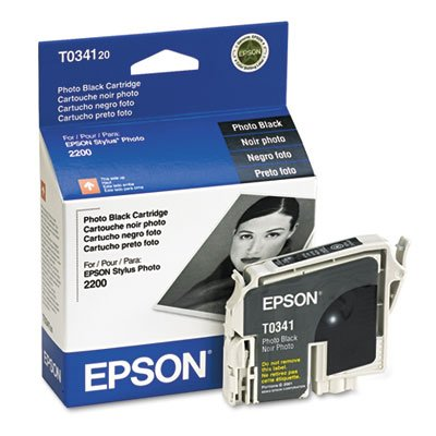 T034120 Ink, 628 Page-Yield, Photo Black, Sold as 1 Each (Epson T034120 Black Inkjet)