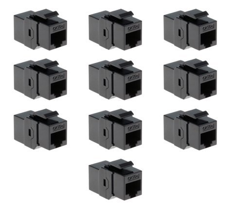 e Female Keystone Coupler - Black - 10 Pack (Cat5e Keystone Coupler)