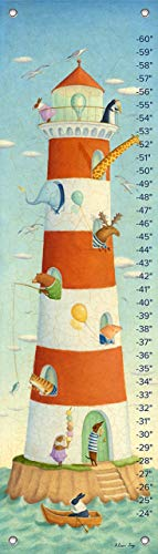 Chart Bunny Height - Oopsy Daisy Growth Charts Lighthouse Bay Buddies by Alison Jay, 12 by 42-Inch