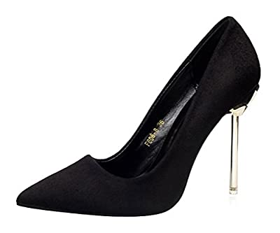 T&Mates Womens Classic Versatile Pointed Toe Slip On Pumps Stiletto Evening Work Dress High Heels