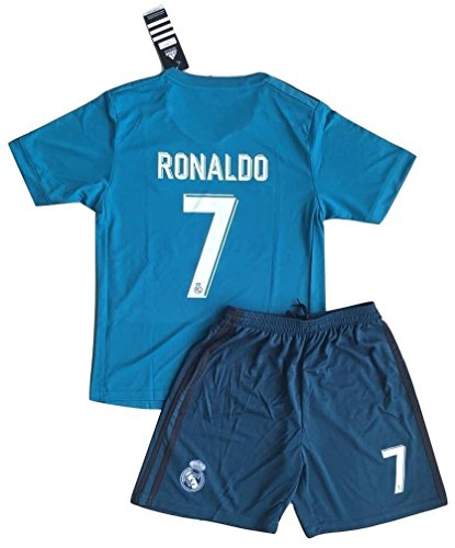 4a94acb47 New  7 Ronaldo 2017 2018 Real Madrid 3rd Jersey   Shorts for Kids Youths  (11-13 Years Old)