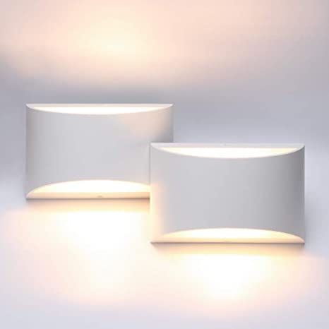 Aipsun Aluminum Modern Indoor Led Wall Sconce Interior Wall Lights Set Of 2 Up And Down Wall Mount Light For Living Room Bedroom Hallway Corridor Conservatory Warm White 3000k With G9 Bulbs