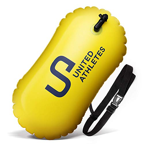 UNITED ATHLETES Swim and Safety Open Water Buoy for Swimmers and Triathletes (18L, Yellow)