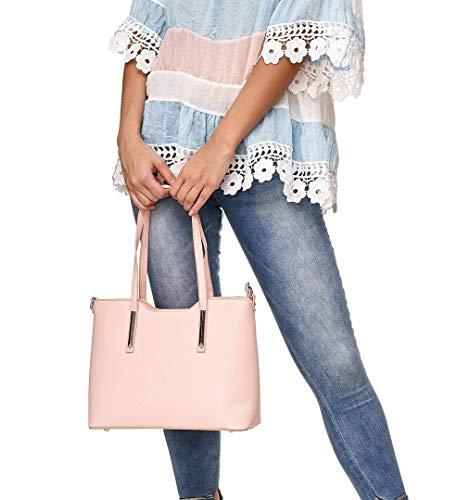 La Toronjil Bolso Rosa Pu A4 cuero Estudio Compra Comprador La Vanessa De Del amp; Mujeres Trabajo De Bolsa 5w1FZI