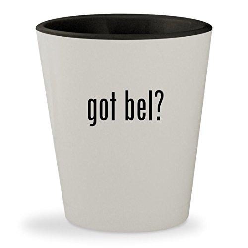 got bel? - White Outer & Black Inner Ceramic 1.5oz Shot Glass