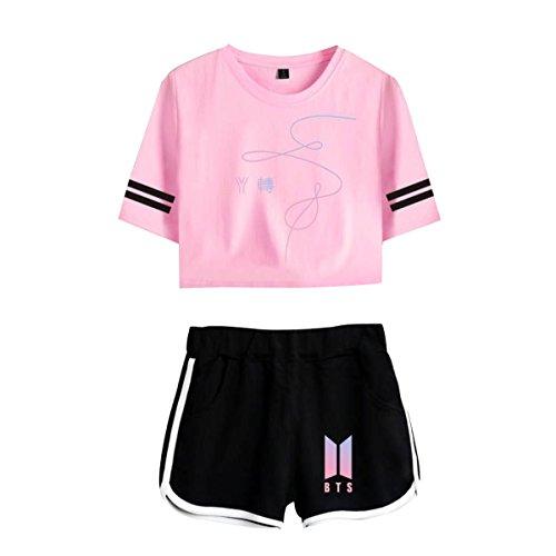Love Pantaloncini Donna 07 Yourself e T Oversize CTOOO Shirt BTS Corta xtWFSvYqw