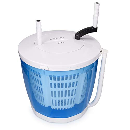 Navaris 2-in-1 Mini Washing Machine and Spin Dryer - Holds up to 2 kg -...