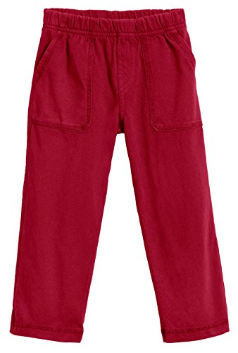 (City Threads Little Boys' and Girls' Soft Jersey Tonal Stitch Pant Perfect for Sensitive Skin SPD Sensory Friendly Clothing - Red 4T)