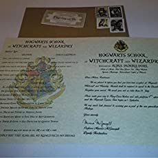 personalized harry potter acceptance letter with kraft envelope supply list