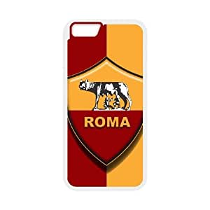 Plastic Case Pmzema iPhone 6 Plus 5.5 Inch Cell Phone Case White As Roma Logo Generic Design Back Case Cover