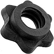 SHUNYUS 1 Pair Vinyl Spinlock Collars, Standard Dumbbell Bar Weight Lifting Barbells Spinlock Collars Hex Nut