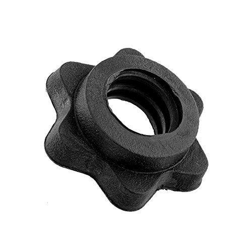 OYJe Black Pair Vinyl Spinlock Collars for 1' Standard Barbells Bars Training Sports Screw clamp...
