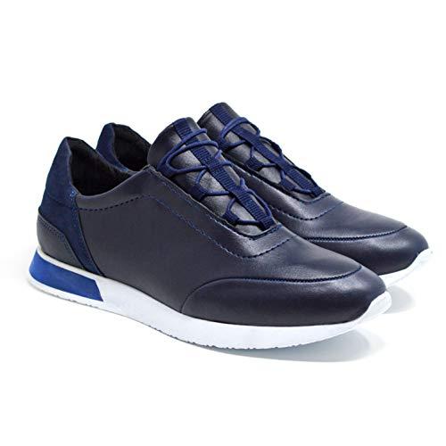 Zapatos Hombre Classydude Sintético Material Para Cordones Marrón Marino De Azul SA7An1xB