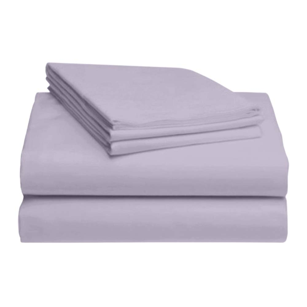 LuxClub 4 PC Sheet Set Bamboo Sheets Deep Pockets Eco Friendly Wrinkle Free Sheets Hypoallergenic Anti-Bacteria Machine Washable Hotel Bedding Silky Soft - Periwinkle Queen
