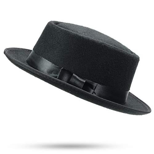 (FWool Fedora Hat Fedora Bow Tie Solid Aristocratic Outdoor Dad Bone Cap edoras Unisex Structured Light Brown)