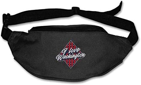 ワシントンユニセックスアウトドアファニーパックバッグベルトバッグスポーツウエストパックが大好き