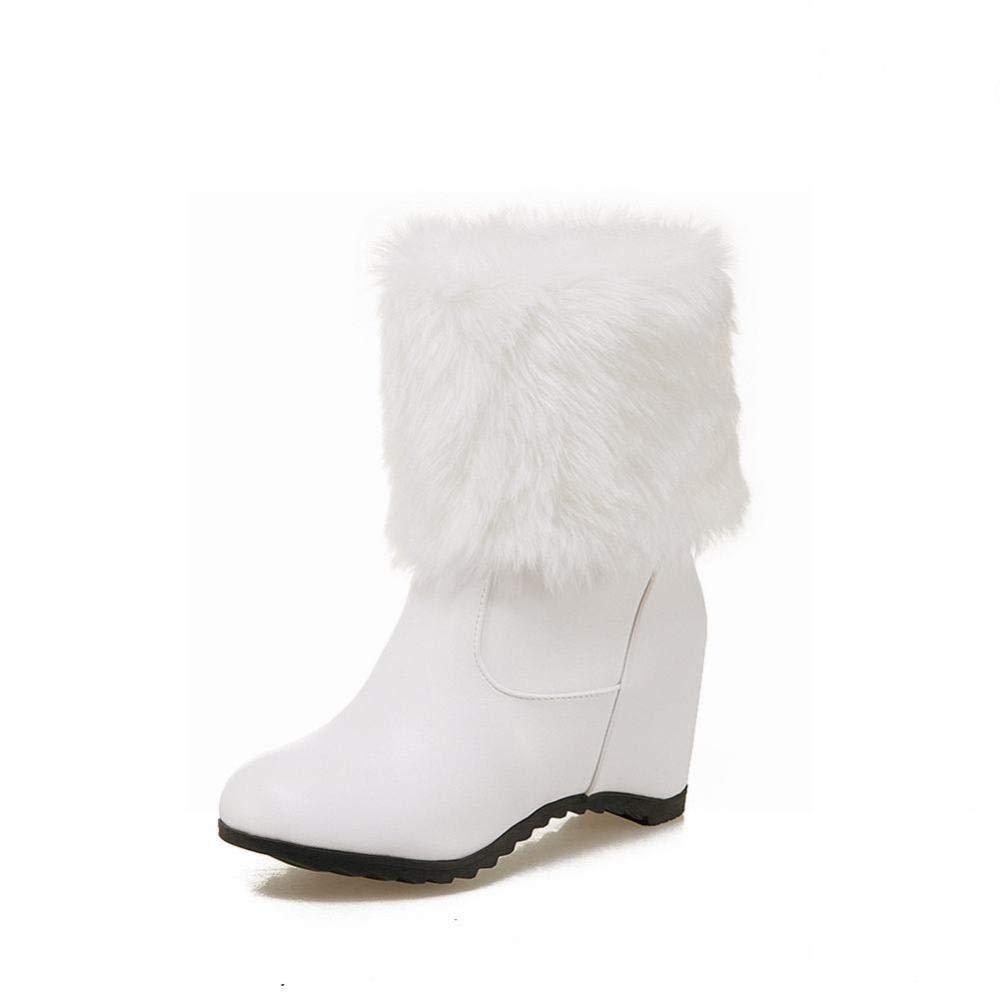 ZHRUI Winter Damenstiefel - Warme Warme Warme Anti-Skischuhe Innenhöhen Damenstiefeletten   36-43 (Farbe   Weiß Größe   42) 897def