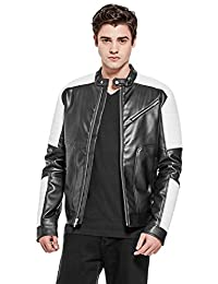 Guess Factory Men's Junipero Color-Block Moto Jacket