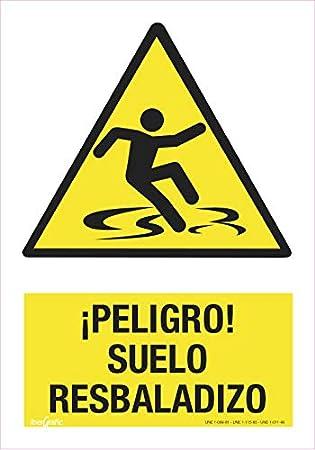 CARTEL PELIGRO SUELO RESBALADIZO | ADVERTENCIA PELIGRO SUELO ...