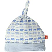Magnificent Baby Baby Infant Reversible Hat, Dancing Elephants Blue, NB-3M