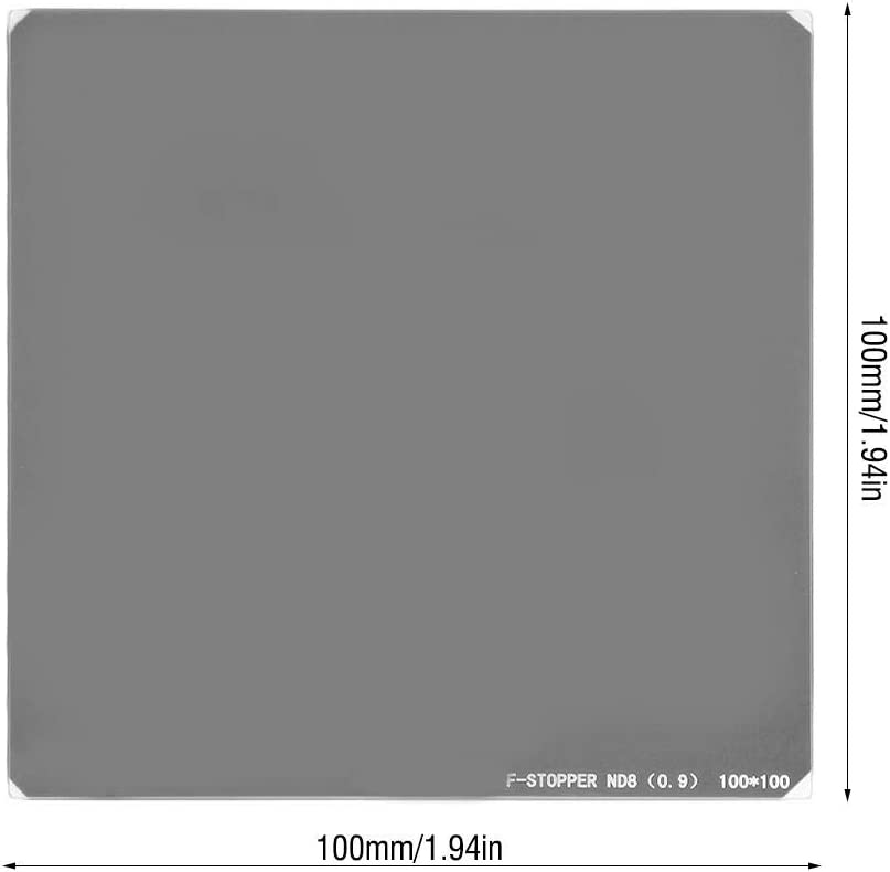 Square ND Filter ND8 Filter Lens Optical Glass 100 100mm ND Fader Neutral Density Fading Control Filter for Camera Lens
