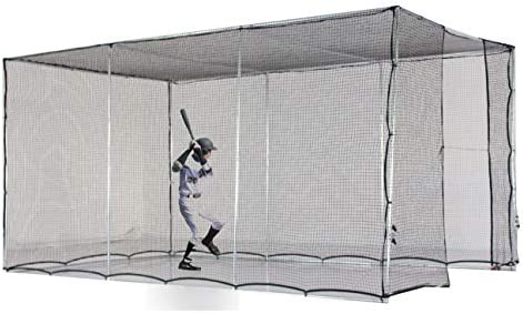 Kapler Baseball Batting cage Net Baseball prictice Net 1 High Strength Steel Frame Softball Batting cage 16.4 L X10 D X8 H