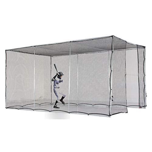 - Kapler Baseball Batting cage Net Baseball prictice Net 25mm High Strength Steel Frame Softball Batting cage 16.4' (L) X10' (D) X8' (H)
