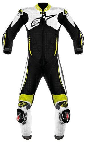 Alpinestars Atem One-Piece Leather Suit - 54/White/Black/Yellow Fluorescent