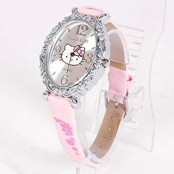 DesignAmazon Uhr Vintage Kitty Damenuhr Armbanduhr Hello gvfyYb76