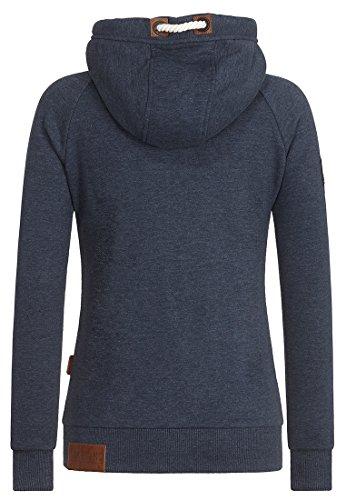 Naketano Female Zipped Jacket Blonder Engel Indigo Blue Melange ULdVI