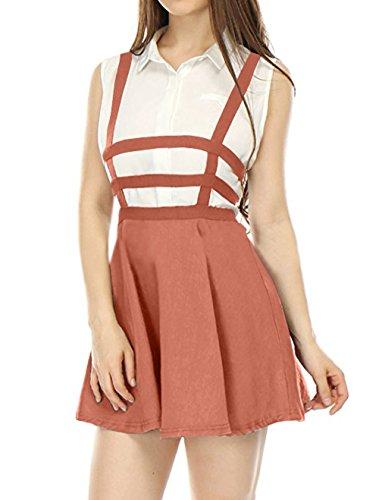 de Ajoure Jupes Jupe Bandage Femmes Haute Fox Jupe Mode Fr Personnalit Fte Plage Bretelles Orange de t Taille Mini ulein pxazPqZwRW