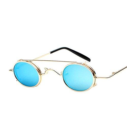 Aoligei Lunettes de punk vent soleil léger amovible double usage rétro-prince lunettes de marée rue miroir D