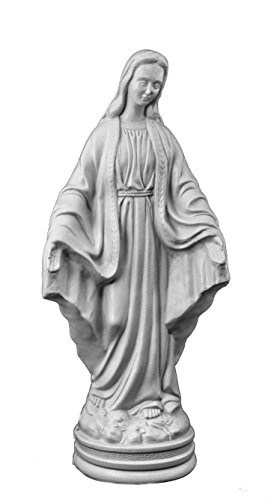 Jenacor 23″ Outdoor Madonna (Granite) – Lightweight Durable Plastic