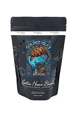 Golden Isles, Georgia - Sea Turtle Art Nouveau (8oz Whole Bean Small Batch Artisan Coffee - Bold & Strong Medium Dark Roast w/ Artwork)
