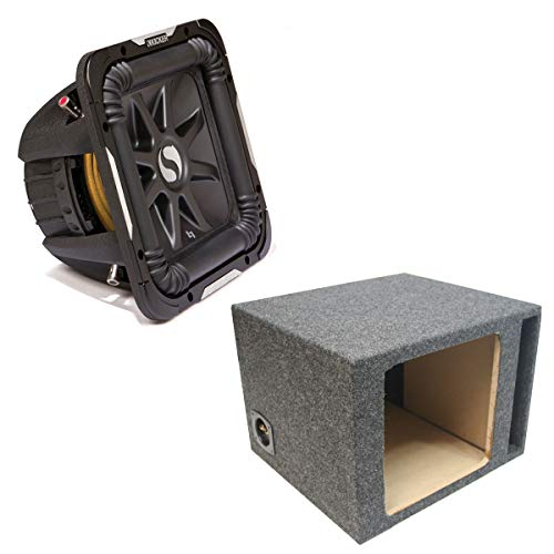 Kicker 11S12L72 Solobaric L7 Subwoofer Single 12″ Vented Sub Enclosure Box New