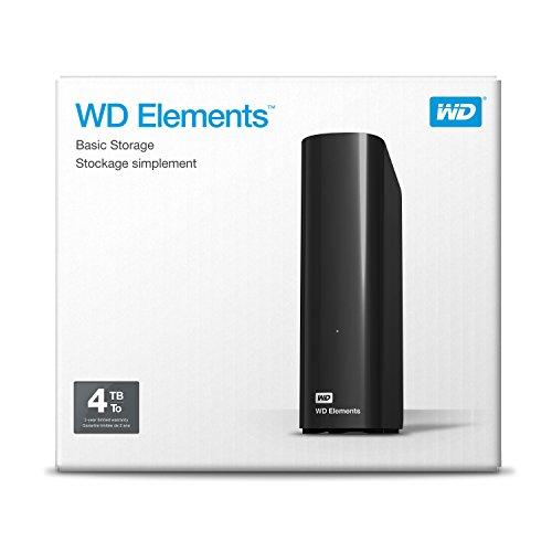 WD 4TB Elements Desktop Hard Drive - USB 3.0 -WDBWLG0040HBK-NESN