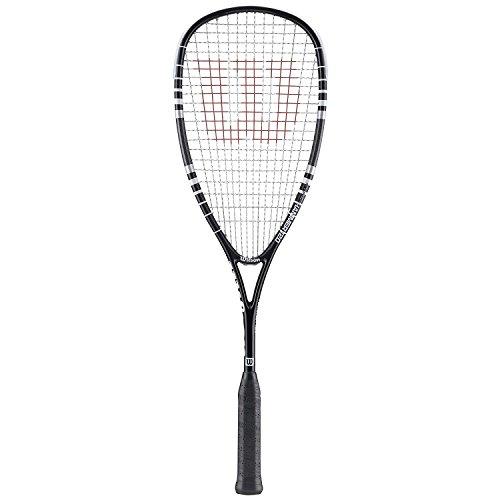 (Wilson Hyper Hammer 120 Black Squash Racquet plus Choice of Balls (6, Dunlop Pro Balls))