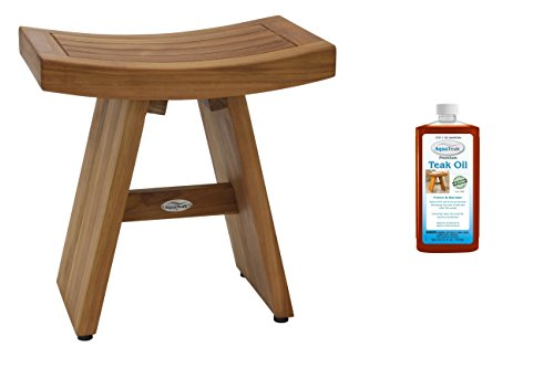 Asia Shower Bench, Bench and Teak Oil