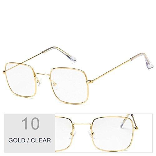 Clear Con De Sol TIANLIANG04 Gafas Sol Claro Plateado De Mujer De Gafas Sobredimensionado Marco Metal Gold gxq15xZw8