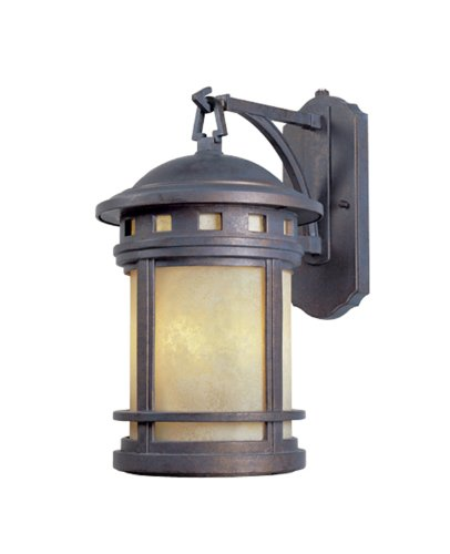 Designers Fountain 2381-AM-MP Sedona Wall Lanterns, Mediterranean Patina