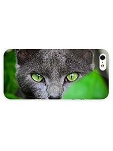 3d Full Wrap Case for iPhone 5/5s Animal Gray Cat Hiddin