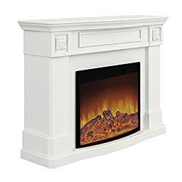 Argo Furniture Alessa Electric Fireplace, White