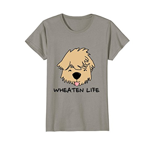 Womens Wheaten Life Soft Coated Wheaten Terrier Dog Face Shirt Medium Slate