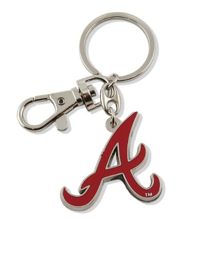 aminco MLB Atlanta Braves Team Logo Heavyweight Key Ring