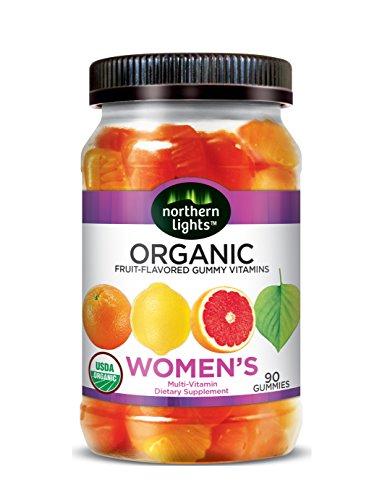 Northern Lights Women's Organic Gummy Multi-Vitamins, Lemon/Grapefruit/Orange, 13.66 Ounce