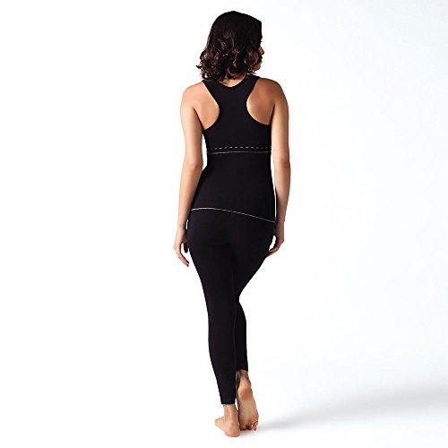 Coeur Cache Noir Femme Legging Illusion Maternité YOp6q