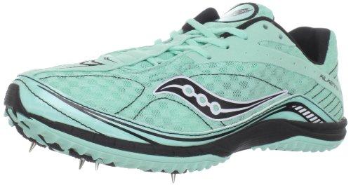 Saucony Women's Kilkenny XC4 Spike Running Shoe,Aqua/Black,5 M US