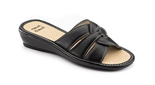 tiglio Pantofole Donna 1624 Nero (37)