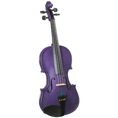 Cremona SV-130 Premier Novice Violin Outfit - Sparkling Purple - 4/4 Size by Cremona