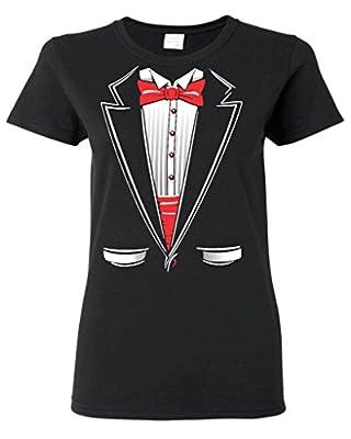 Shop4Ever® Tuxedo Funny Women's T-Shirt Funny Shirts